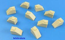 LEGO 1x2 Dachstein Beige / 10-pc