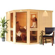 Karibu Sauna SYLT 2,31 x 1,96 m Saunakabine mit Ofen Finnisch oder Bio