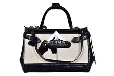New Ladies Stylish Gladstone Bag Black COW Fur Real Cow Leather Hand Bag