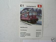 64-LOKS TREIN TRAIN E1 BLS RE 4/4 ZWITSERLAND SUISSE