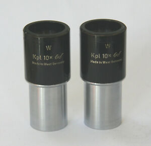 Zeiss Microscope Eyepieces Kpl 10X W  - 23.mm Fit (RMS)  - No Delamination