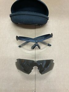 ESS CROSSBOW Z87+ Black Military Glasses with Clear & Dark Lenses, and case