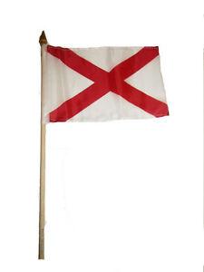 """6x9 6""""x9"""" St. Patrick's Cross Stick Flag wood Staff"""