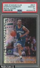 1998 Stadium Club Royal Court #Rc7 Stephon Marbury Timberwolves PSA 10 POP 1