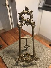 Vintage Ornamental Brass Picture Holder/ Easel Stand