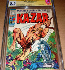 Marvel Super Heroes #19 CGC SS SIGNED Stan Lee Ka-Zar 1st Solo Story 1969