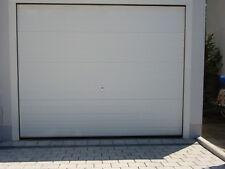Garagentor Sektionaltor S-Sicke Stucco RAL 9010 weiß 4000 x 2375mm