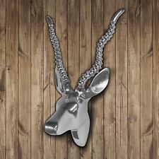 Gazelle Deko-Geweih aus poliertem Aluminium 31x28cm Wanddeko Wandgeweih