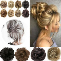 7 Colors Elastic Curly Messy Bun Hair Piece Scrunchie Hair Extensions as Human