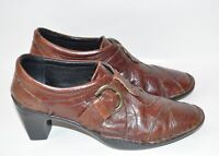 Womens Brand New Josef seibel Heels Size 36 EU 5.5 - 6 US Brown Leather Flawless