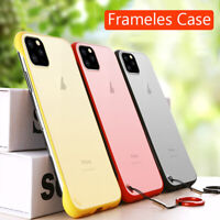 Ultra Thin Frameless Case For iPhone 11 Pro Max Transparent Matte Cover Case sm