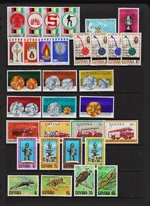 Guyana - 8 mint commemorative sets, cat. $ 33.45
