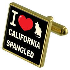 I Love My Cat Gold-Tone Cufflinks Money Clip California Spangled