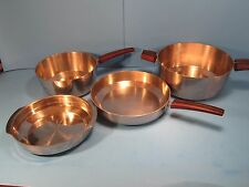 VOLLRATH Danish Modern Tri-Ply Aluminum Core & Stainless Pans 4PC
