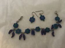 and Matching Earring Set Artist Made Fimo Bracelet 8""