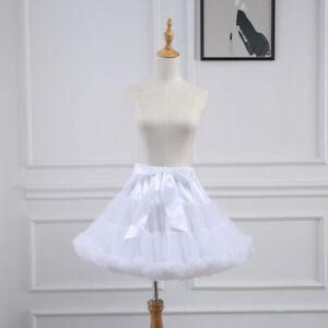 Women Petticoat Lolita Tutu Skirt Underskirt Short Crinoline Cosplay Kwaii Cute