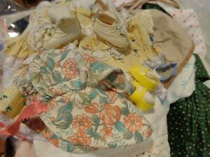 Large lot Vintage to now Doll Clothes Dresses hats shoes clothing