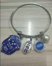 Zeta Phi Beta Shield Bangle Bracelet