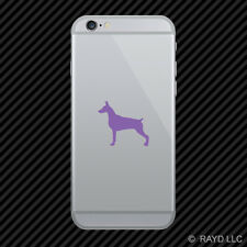(2x) Doberman Pinscher Cell Phone Sticker Mobile dog canine pet many colors