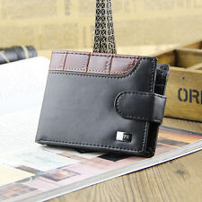 Mens Black Leather Wallet From Skype New With Coin Pouch