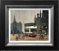 ARTHUR DELANEY - ORIGINAL OIL PAINTING ALBERT SQUARE MANCHESTER NORTHERN ART