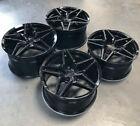 Mrr M755 Black 19x8.5 50 20x11 55 Concave Wheels Set Fit Chevy Corvette C5