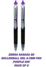 2 x Zebra Sarasa SE Gel Rollerball Pen 0.7mm Tip Purple Ink