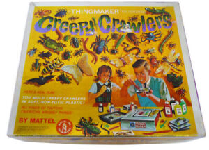 Vintage CREEPY CRAWLERS THINGMAKER Mattel (1964) 9 Molds WORKS!!!