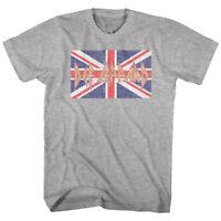 Def Leppard Union Jack Flag Logo Men's T Shirt Metal Rock Band Album Tour Merch