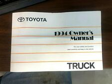 New Listing1994 94 Toyota Truck Owners Manual Original Used