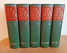 Der Neue Brockhaus - 5 Bände - Band 1 bis 5 Lexikon Nachschlagewerke