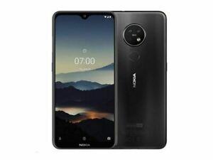 "Nokia 7.2 TA-1196 AT&T (Dual-SIM): 6.3"" FHD, 64GB RAM, 4K Video, Charcoal"