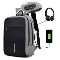 Anti robo Mochila Bolsos Escolar USB Carga Gran Capacidad  Mochila de hombro