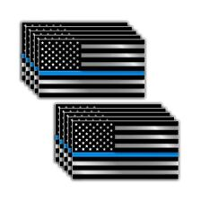 10x Police American Flag Thin Line Decal Sticker Blue Lives Matter Truck Window