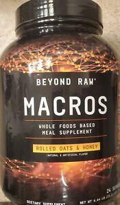 Beyond Raw MACROS Rolled Oats&Honey 4.5 lbs 24 Serv.OPEN TUB,BUT FULL SEE BELOW