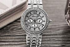 Farril Unisex Kristall Edelstahl Armbanduhr Elegant Analog Mode Uhren Strass