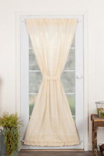 TOBACCO CLOTH Natural French Door Panel Creme Farmhouse Rustic VHC Brands 72x40