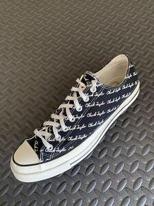 Converse Chuck 70's Low Scripted Signature Print Black Egret Canvas Shoes US 13
