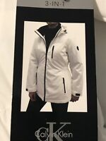 Calvin Klein NWT Sz Small Women's System Hooded Jacket Coat 3 in 1 White