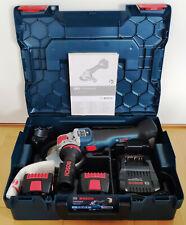 Bosch GWX 18V-10 SC Akku-Winkelschleifer 2 Akkus Ladegerät L-Boxx NEUw X-LOCK