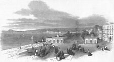 ITALY. Naples-Chiaja, or quay, antique print, 1848