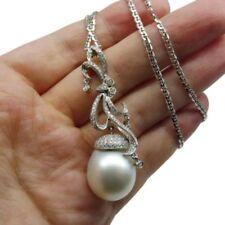 9ec9b55dad07 Collares y colgantes de joyería con perlas de oro blanco de 18 quilates  perla