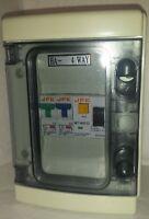 Garage Consumer unit IP65 40amp 30ma RCD + 6+20amp or 6+32amp type b Fuse box