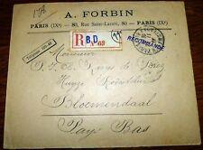 Reco N 63 Brief Paris 118 1913 Frankreich France Bloemendaal (44