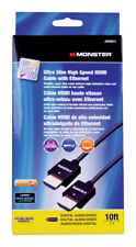 NEW! MONSTER Ultra Slim High Speed HDMI Cable With Ethernet HDMI  JHIU0011