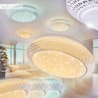 runde LED Design Glitzer Decken Lampen Flur Wohn Schlaf Zimmer Leuchten dimmbar