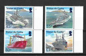 Tristan Da Cunha 2018 Visiting Royal Navy Ships  MNH