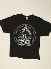 Star Wars The Clone Wars T-Shirt Youth Child Medium Black Movie Tee