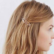 Korean Simple Fashion Gold Metal Pin Hair Clip Pin Women Hair Accessory 1 Pair