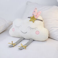 Kids Baby Cloud Shaped Plush Toy Stuffed Soft Pillow Cushion Bolster Decoration